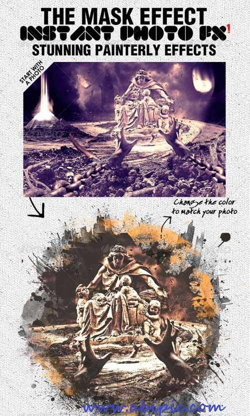 تمپلت لایه باز افکت عکس هنری شماره 3 Stunning Photo Effects