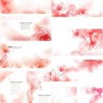 دانلود وکتور پس زمینه با طرح گل های قرمز Vector Backgrounds – Red Flowers