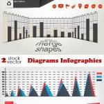 دانلود وکتور نمودارها و دیاگرام ها Vectors Diagrams Infographics