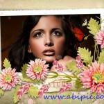 دانلود طرح لایه باز قاب عکس رمانتیک سری 3 Photo frame – Floral romantic