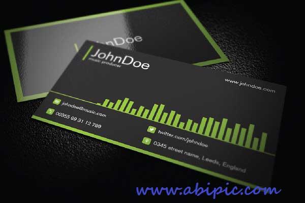 دانلود طرح وکتور کارت ویزیت موسیقی Music Business Card