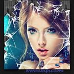افکت لایه باز عکس شیشه خرد شده Shattered Glass Effect Photo PSD