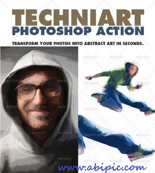 دانلود اکشن فتوشاپ افکت های هنری سری 5 Artistic Photoshop Action