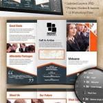 دانلود بروشور سه لت A4 Trifold Brochure Template PSD
