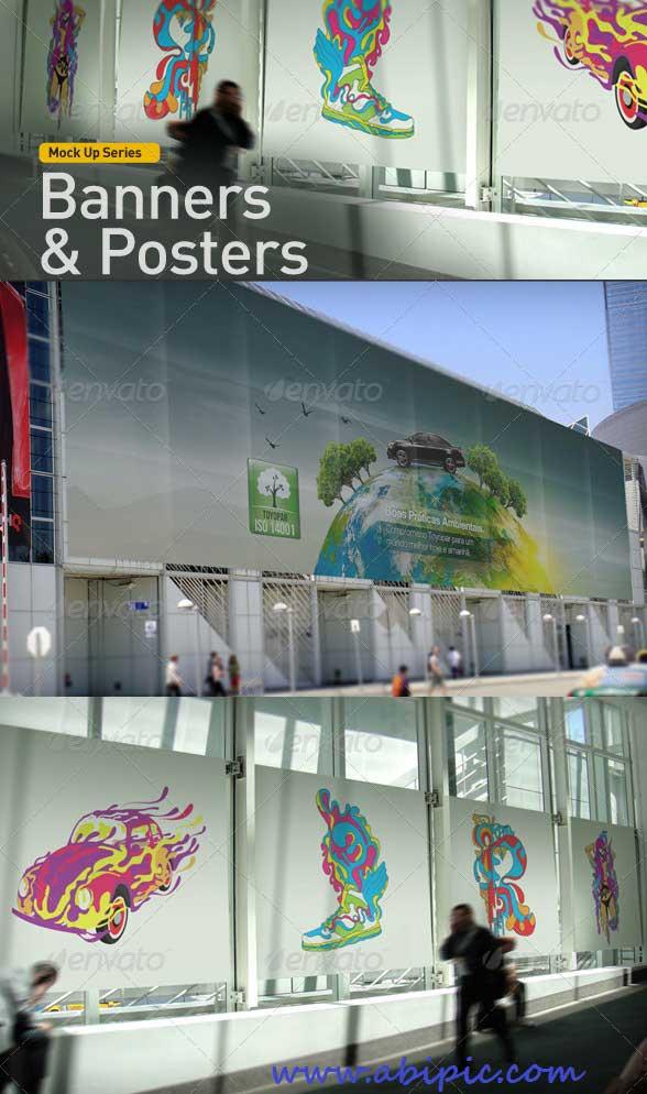 دانلود طرح لایه باز پیش نمایش پوستر و بنر سری 1 Banner Poster Mock-Up