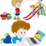 دانلود وکتور از بازی کودکان Children vector