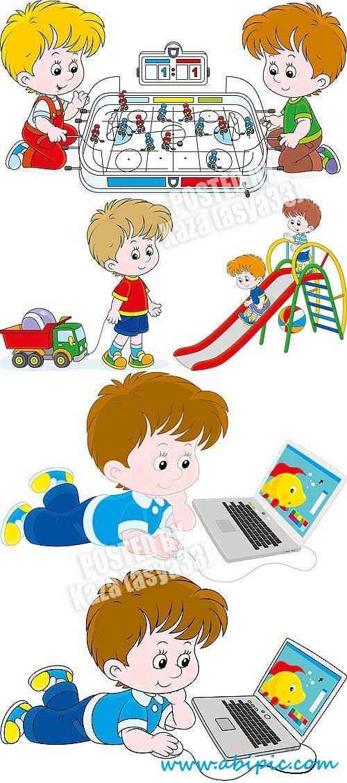 نقاشی حاشیه گل دانلود وکتور از بازی کودکان Children vector   آبی گرافیک ...