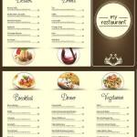 دانلود طرح آماده لایه باز منوی رستوران Restaurant Menu