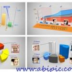 طرح آماده افترافکت نمودار و گراف های آماری شماره 2 3D Charts – After Effects Project
