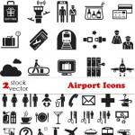 دانلود وکتور آکون و پیکتوگرام های فرودگاه Vectors – Airport Icons