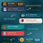 دانلود طرح لایه باز دکمه های سایت سری 9 Flat & Modern Web Buttons PSD