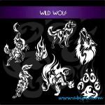دانلود وکتور بسیار زیبای گرگ وحشی Wild Wolf Vector