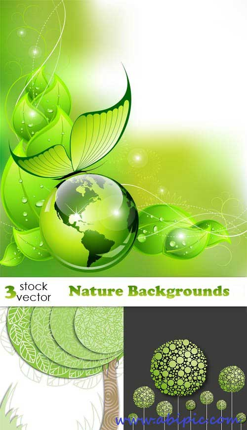 دانلود وکتور پس زمینه طبیعت Vectors Nature Backgrounds