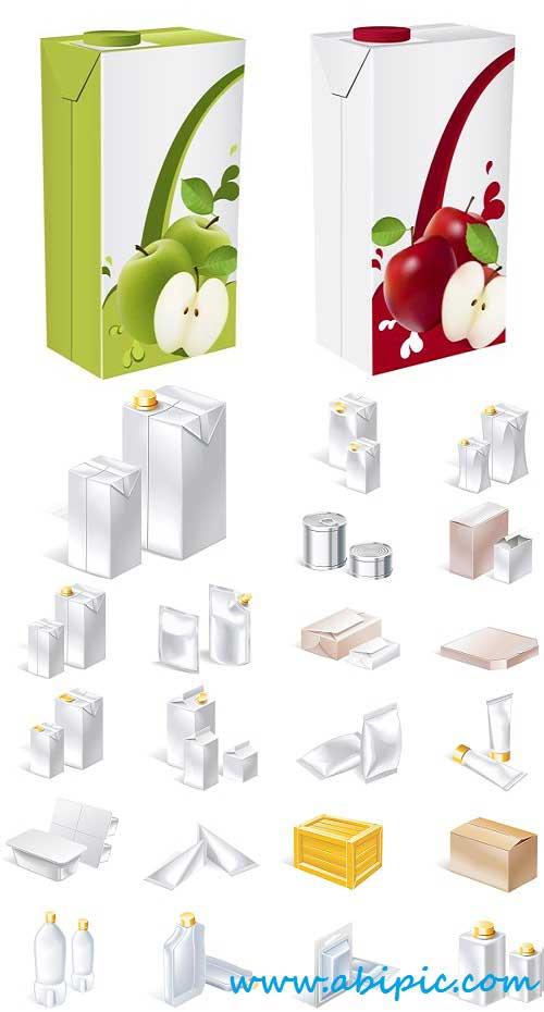 دانلود وکتور طراحی انواع پکیج های بسته بندی مواد غذایی Package Design Vector