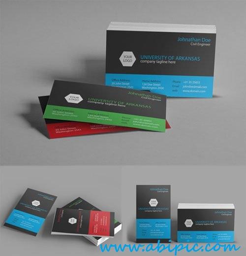 دانلود کارت ویزیت خلاقانه شماره 8 Creative University Business Card