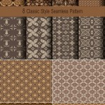دانلود تکسچر کلاسیک قهوه ای Vector classic texture brown tones
