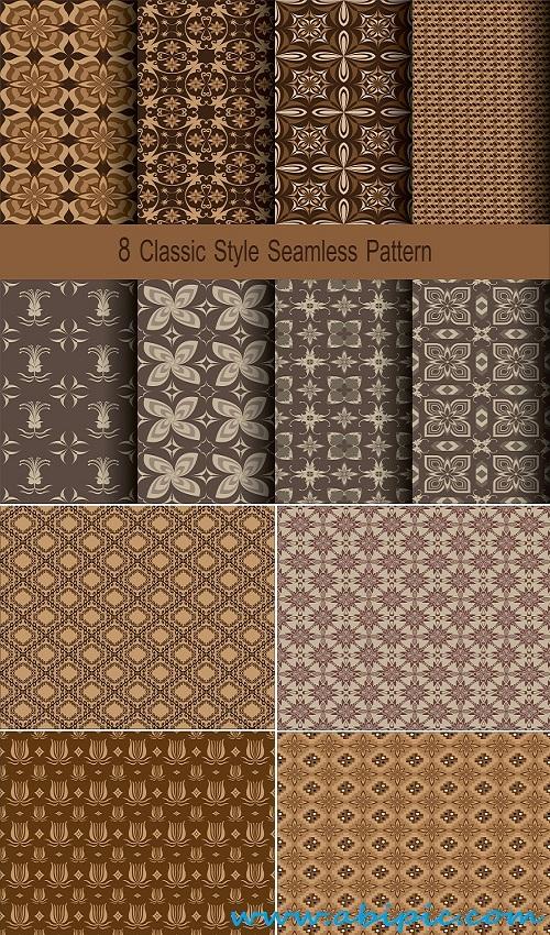 کادر نقاشی دانلود تکسچر کلاسیک قهوه ای Vector classic texture brown ...