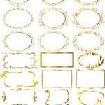 دانلود کادر و حاشیه طلایی شماره 2 Vectors Ornate Gold Frames