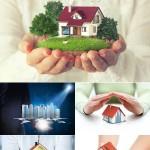 دانلود تصاویر استوک خانه در دست Small toy house in hands
