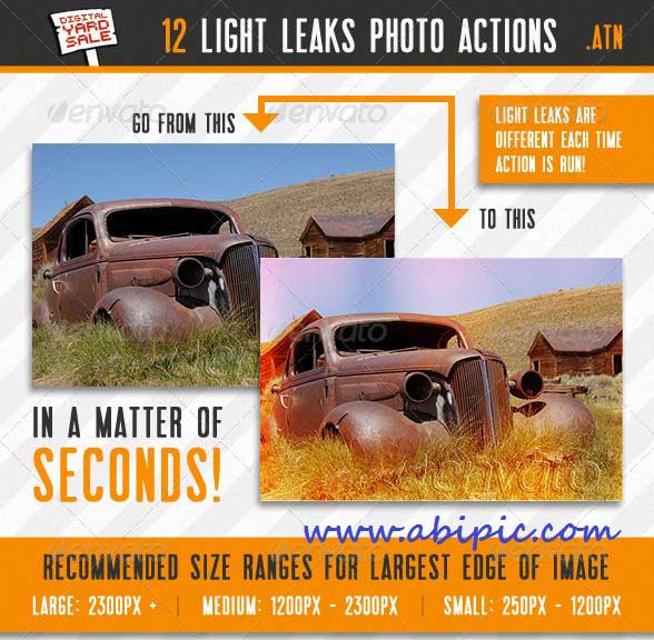 دانلود مجموعه 12 اکشن ساخت افکت های قدیمی برای عکس