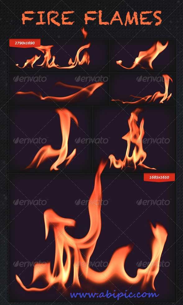 دانلود طرح لایه باز مجموعه ای از افکت های شعله و آتش
