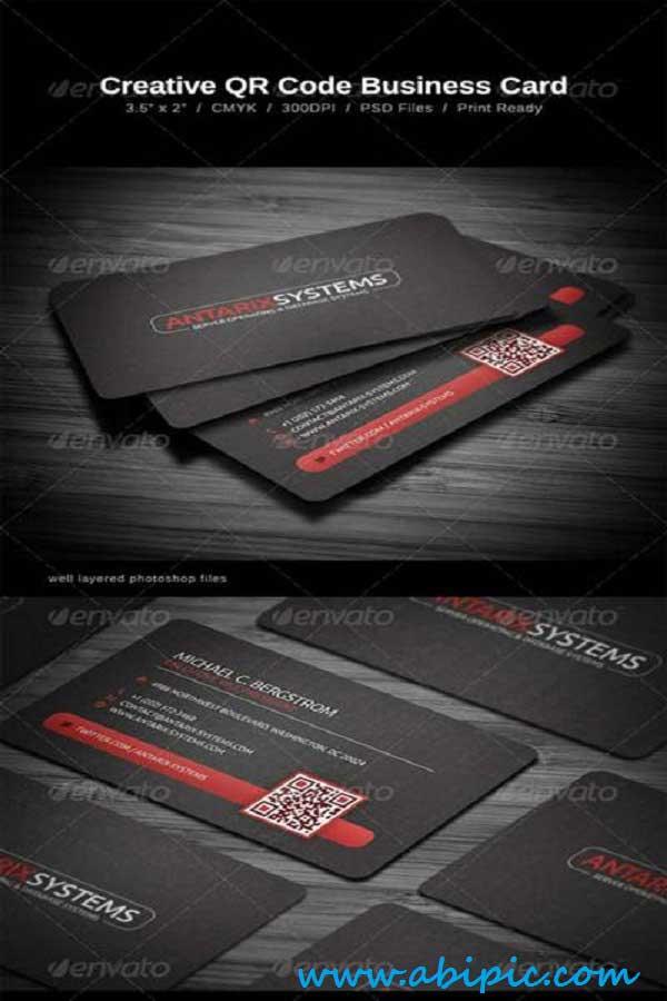 دانلود طرح لایه باز کارت ویزیت شماره 120 QR Code Business Card
