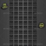 دانلود طرح لایه باز دکمه های سایت سری 10 Dark Square Icon Web Buttons