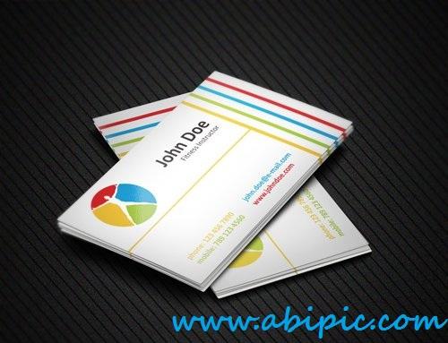 دانلود وکتور کارت ویزیت مربی بدنسازی Fitness Business Card