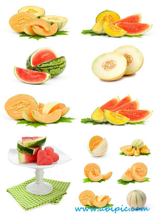 دانلود تصاویر استوک هندوانه و طالبی Stock Photo Watermelon and melon