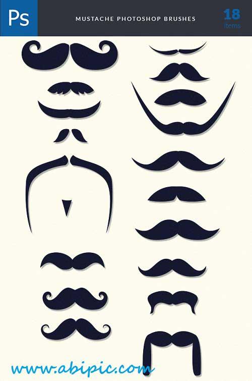 دانلود براش فتوشاپ سبیل Moustaches Brushes Photoshop