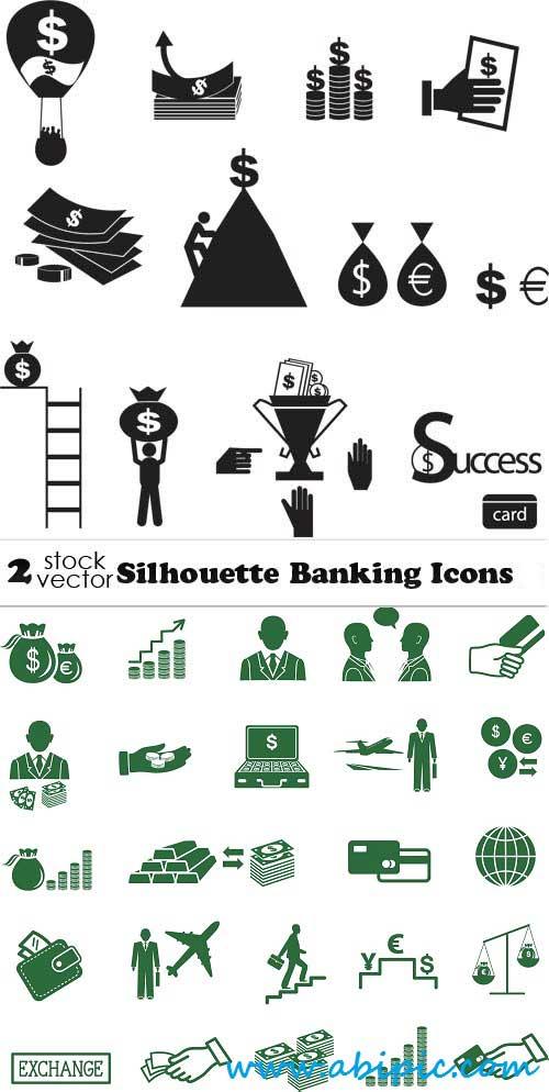 دانلود وکتور آیکون های مرتبط با بانک Vectors Banking Icons