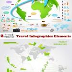 دانلود وکتور عناصر مسافرتی اینفوگرافیک Vectors Travel Infographics Elements