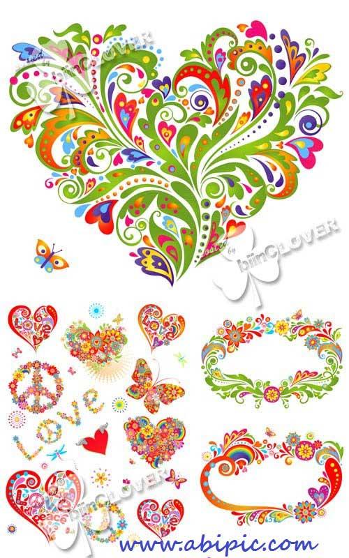 دانلود وکتور المان های تابستانی برای طراحی Happy summer floral elements