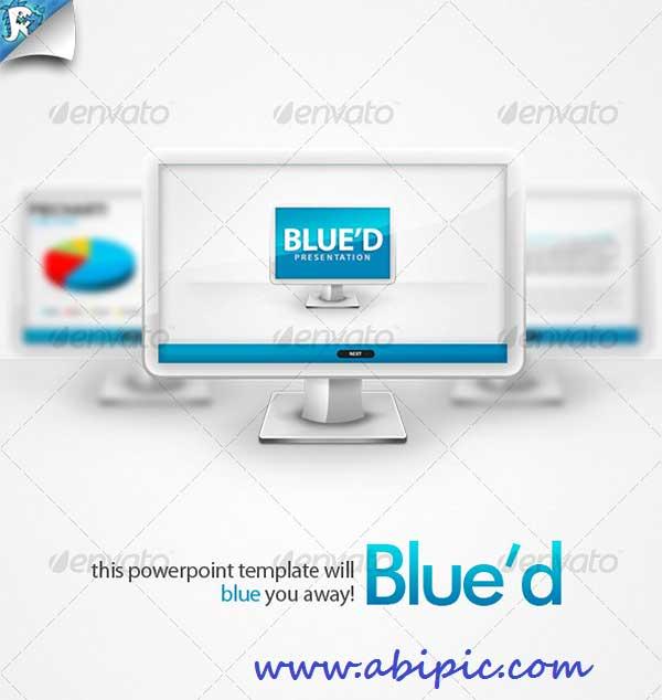 دانلود قالب حرفه ای پاورپوینت شماره 11 Blue'd PowerPoint Presentation