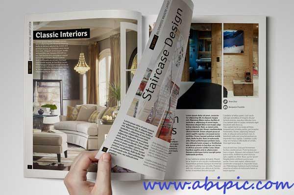 دانلود طرح آماده ایندیزاین مجله چند منظوره Grid 12 Multipurpose Magazine Layout