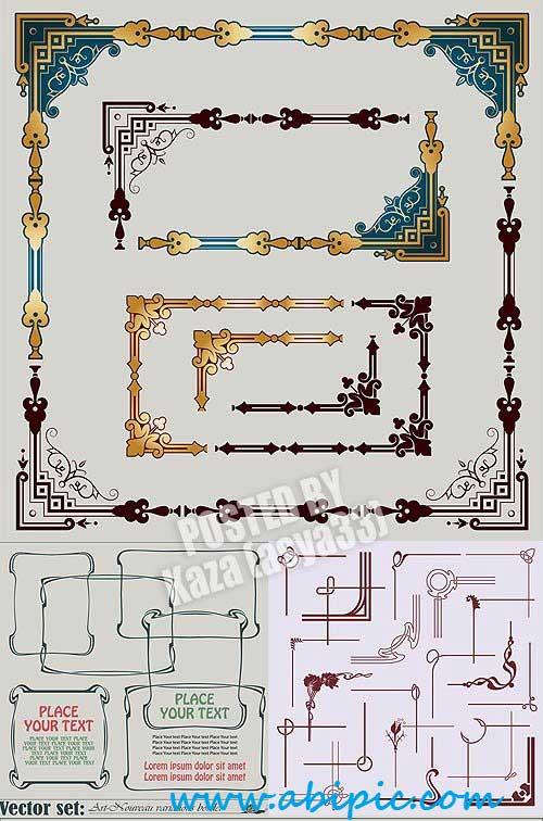 دانلود وکتور فریم تزئینی کادر و حاشیه Decorative frames