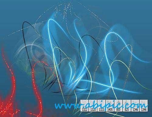 دانلود براش فتوشاپ ایجاد خط های نوری Fine Arts Brushes