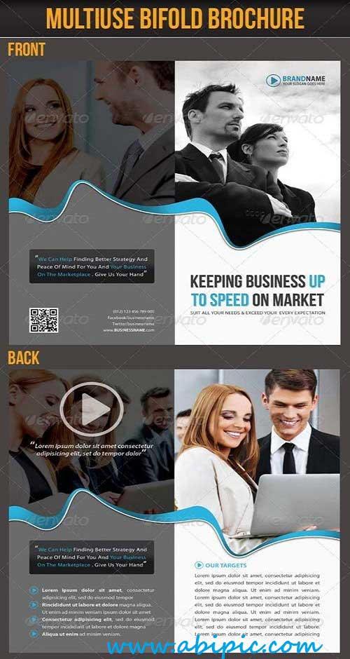 دانلود بروشور لایه باز دو لت تجاری Multiuse Bifold Business Brochure