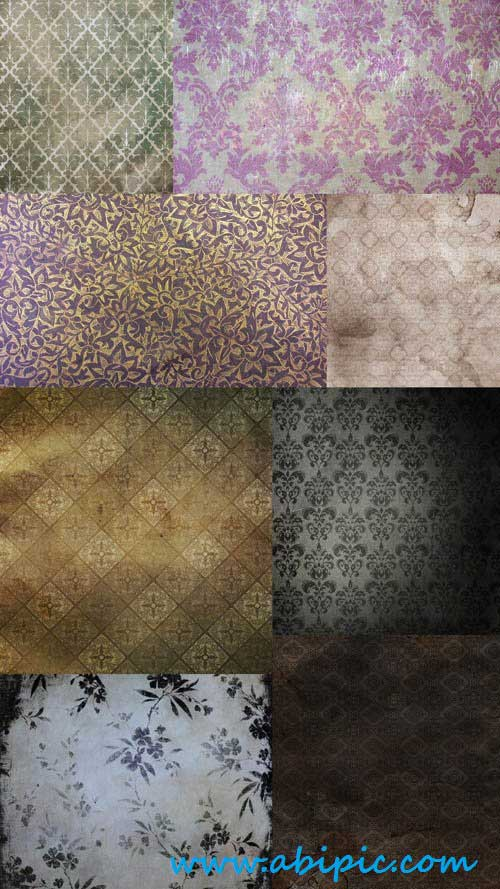دانلود تکسچر کاغذ دیواری قدیمی شماره 2 Vintage papers floral Textures