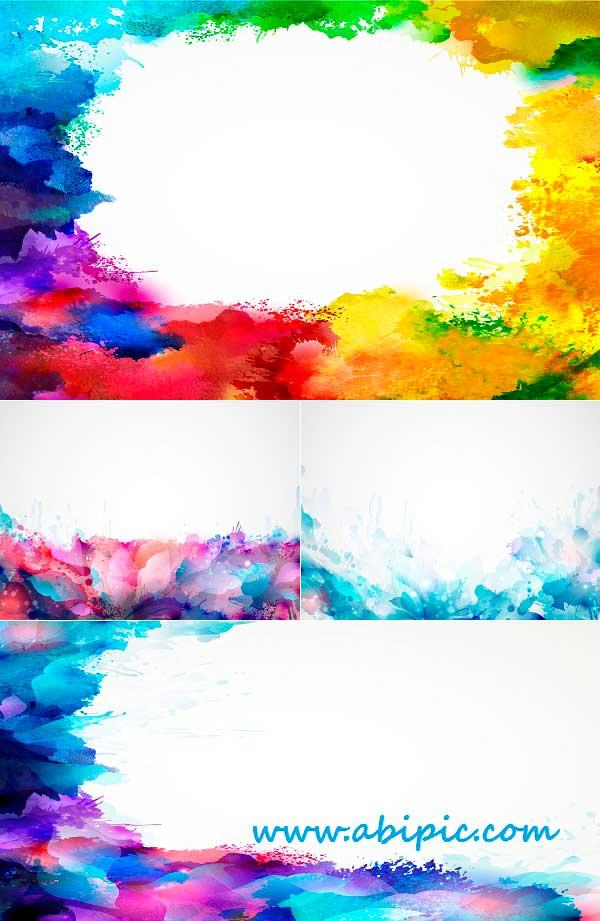 دانلود وکتور پس زمینه انتزاعی روشن با رنگ آمیزی آبرنگ