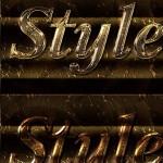 دانلود استایل و افکت متن فتوشاپ فلز مذاب و مایع Bright Liquid Metal Styles