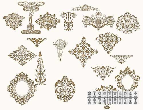 دانلود براش فتوشاپ طرح های تزئینی Floral Ornaments Brushes