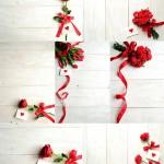 دانلود عکس استوک و پس زمینه گل نامه و پس زمینه چوبی Flowers wooden Stock Photo