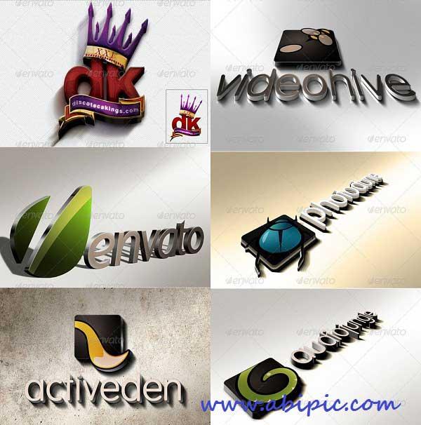 دانلود طرح لایه باز و پیش نمایش لوگو شماره 5 Logo , Text Mock-Up