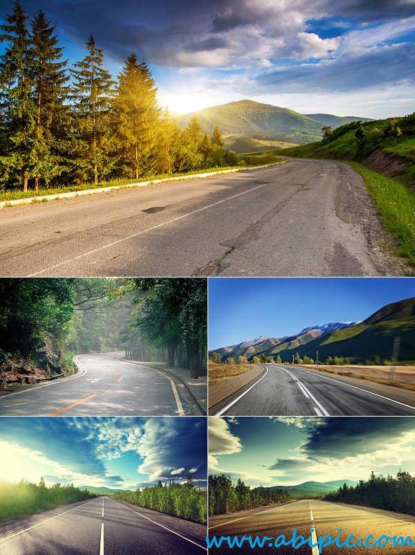 دانلود تصاویر استوک جاده و کوه Stock Photo Road & Mountains
