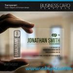 دانلود طرح کارت ویزیت شفاف شماره 5 Transparent Business Card