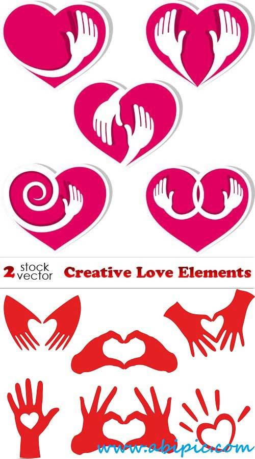 دانلود وکتور علائم عاشقانه Vectors Love Elements