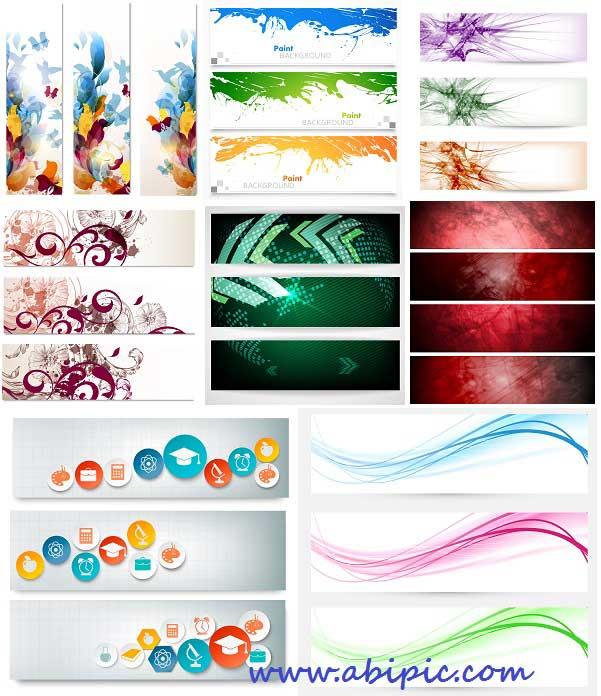 دانلود وکتور آماده بنر سری شماره 25 banner vector collection