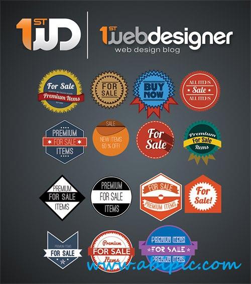 دانلود طرح لایه باز لوگو فروش برای فروشگاه ها Beautiful Badges PSD Template