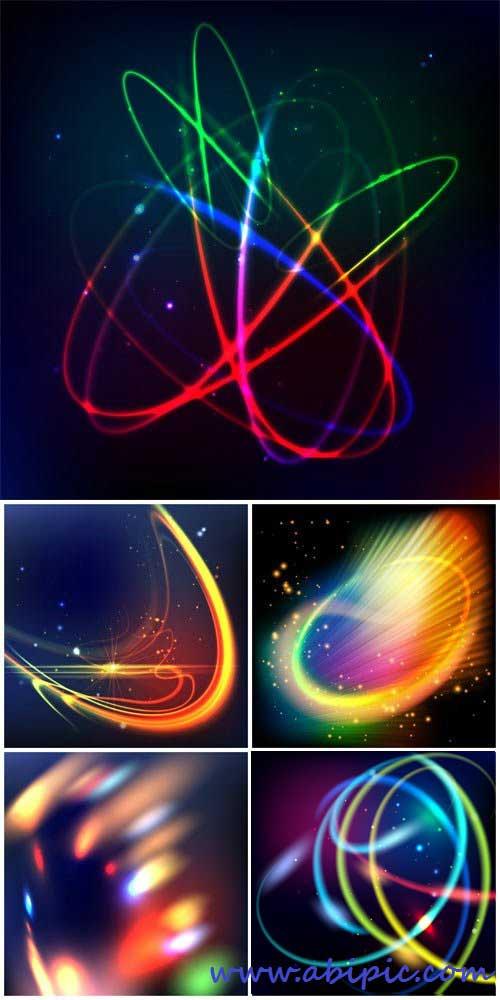 دانلود وکتور پس زمینه انتزائی شماره 11 bstract glowing lines vector background